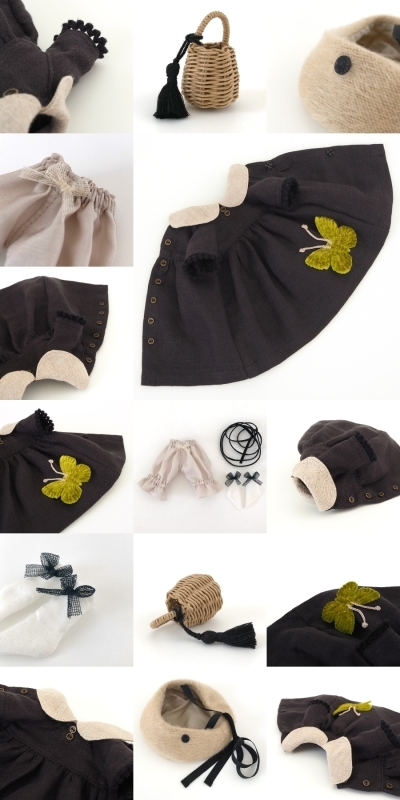 *lucalily * dolls clothes* Butterfly dress set *_d0217189_17070659.jpg