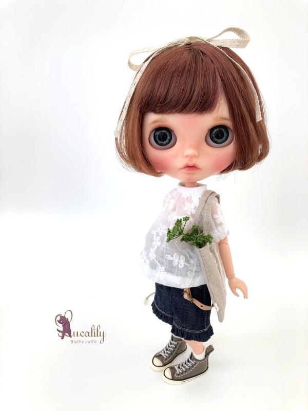 * lucalily * dolls clothes * Botanical blouson set *_d0217189_17103422.jpg