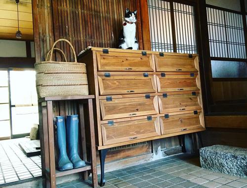 うちの招き猫と新しい下駄箱。_d0077603_18123850.jpg