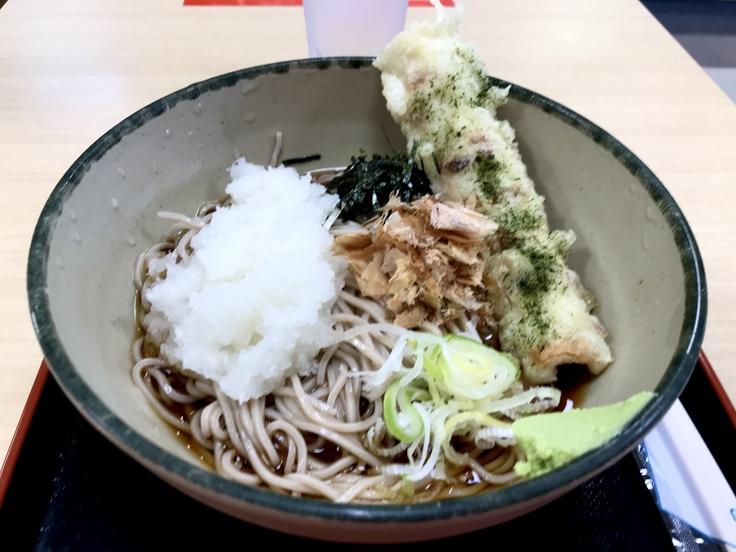 冷しおろし蕎麦+ちくわ天@箱根そば_c0212604_13332462.jpg