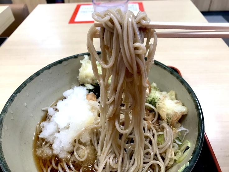 冷しおろし蕎麦+ちくわ天@箱根そば_c0212604_13334645.jpg