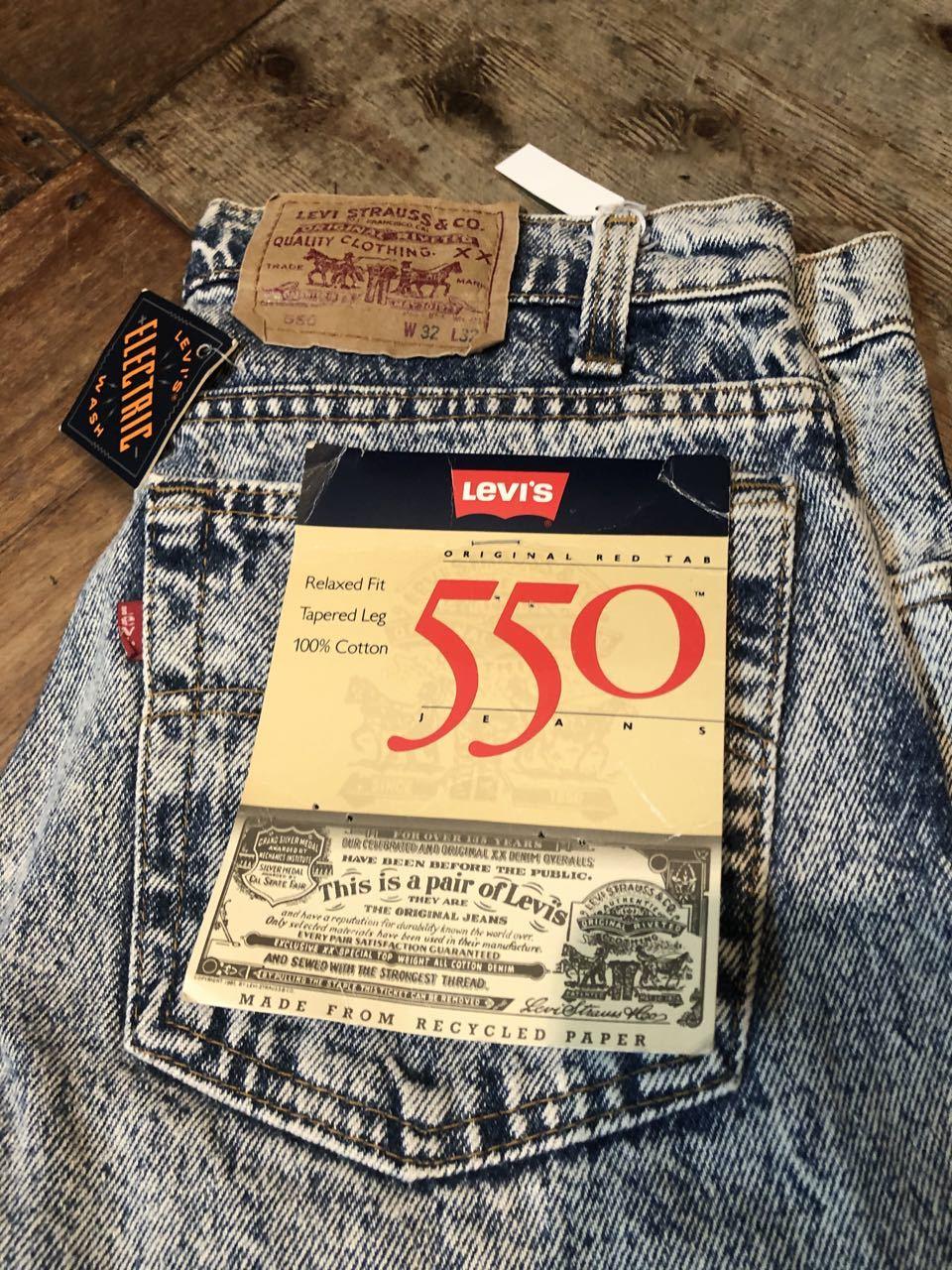 6/18入荷!80s デッドストック アメリカ製 Levi\'s 550  リーバイス550 ELECTRIC  WASH ジーンズ!!_c0144020_12582164.jpg