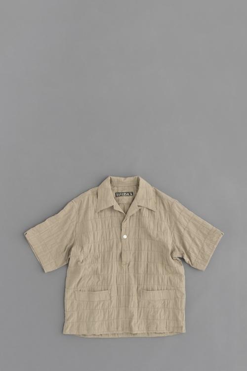 HAVERSACK Patchwork Pullover Open Collar Shirt (Beige)_d0120442_1392348.jpg