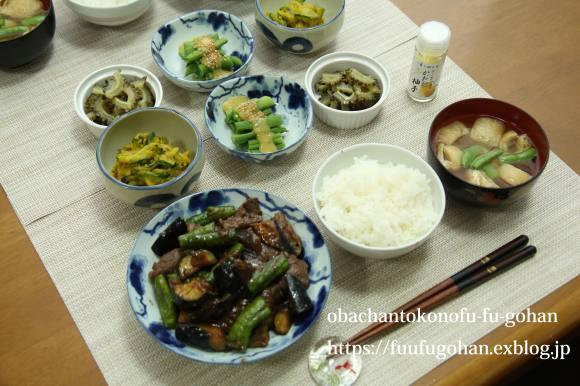 鶏の照り焼き丼弁当&昨夜の牛肉と茄子の味噌炒め御膳_c0326245_10484292.jpg