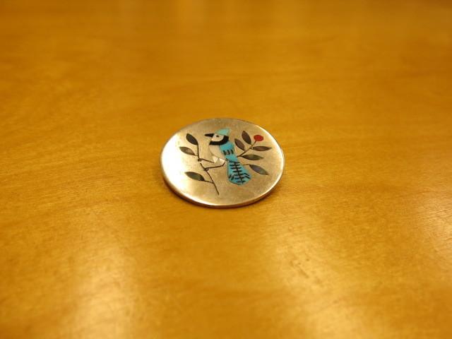 "\""Zuni multi color inlay bluejay pin(Derrick Edaakie)\""ってこんなこと。_c0140560_08033206.jpg"
