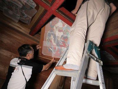 山門「壁画・天井画」修復_b0092684_14312511.jpg