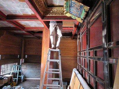 山門「壁画・天井画」修復_b0092684_14344097.jpg