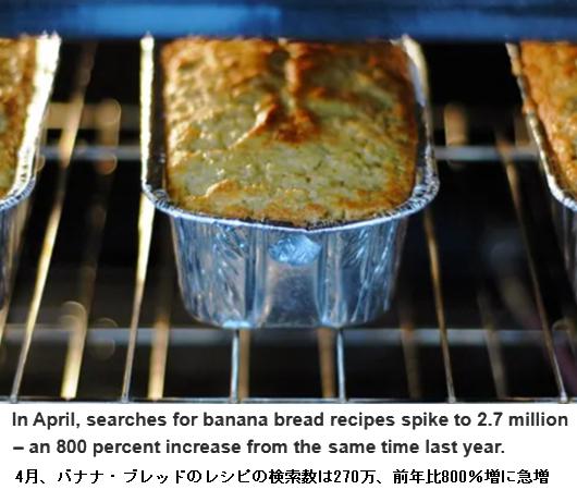 コロナ禍のアメリカで検索数が800%も増加したレシピは・・・バナナ・ブレッド!?_b0007805_00051978.jpg