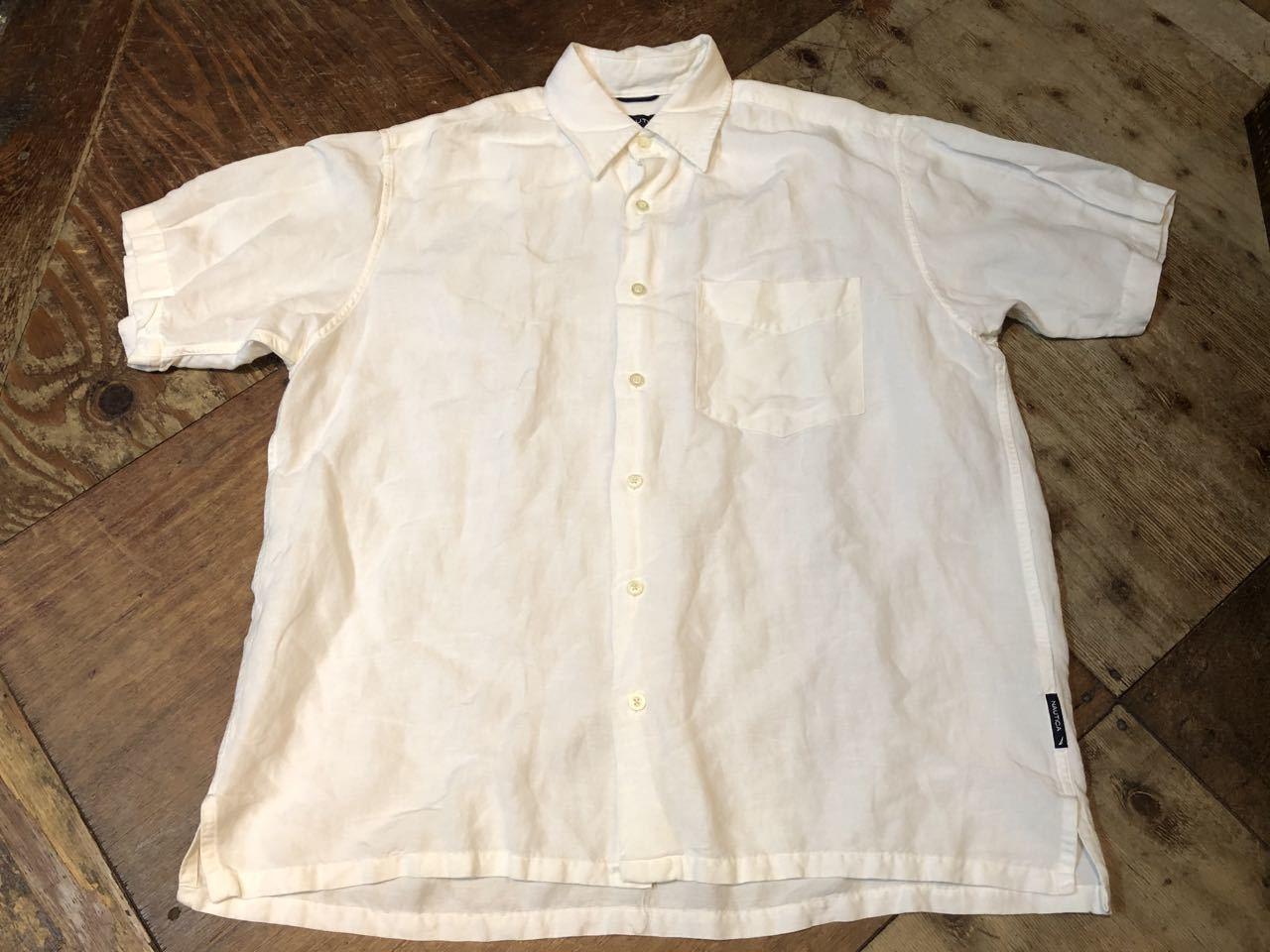 6月20日(土)入荷!NAUTICA  リネン×レーヨン ボックスシャツ!_c0144020_13255221.jpg