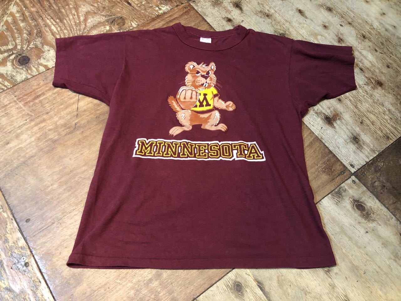 6月20日(土)入荷!80s トリコタグ all cotton チャンピオン champion MINNESOTA カレッジ Tシャツ!_c0144020_13324533.jpg