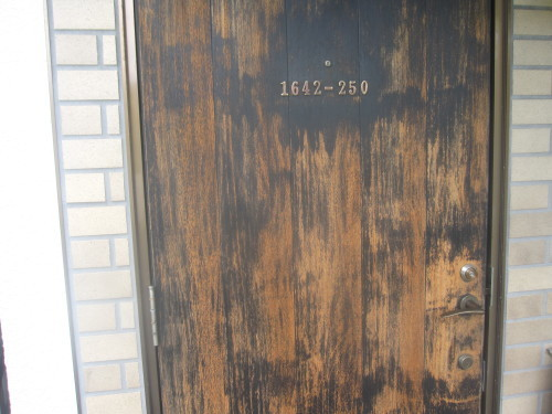 玄関ドア 三度目の塗り直し_e0350927_18203195.jpg