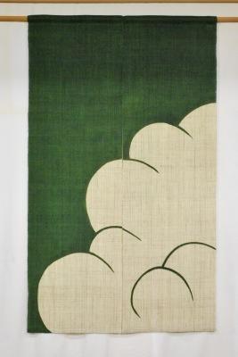 麻暖簾「入道雲」_e0247766_16544603.jpg