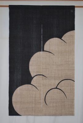 麻暖簾「入道雲」_e0247766_16551601.jpg