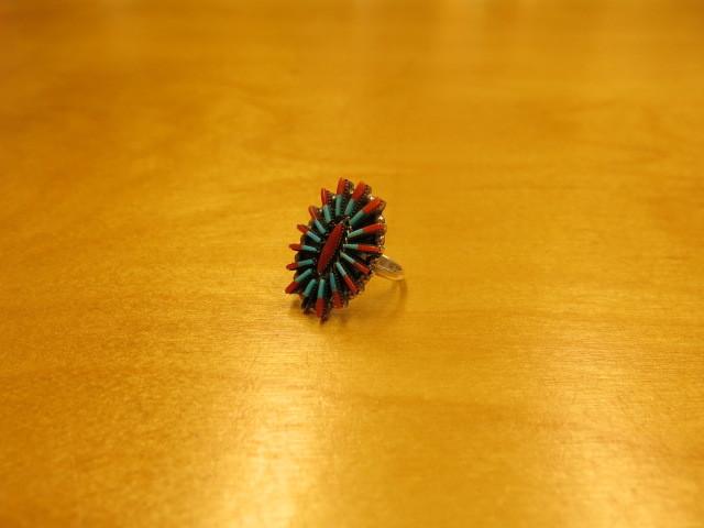 "\""Zuni turquoise & coral needle point ring(Carla Laconsello)\""ってこんなこと。_c0140560_08224077.jpg"