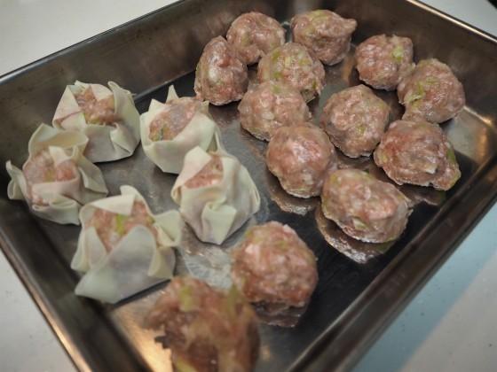 豚ひき肉と海老で2品_a0258686_10312410.jpg