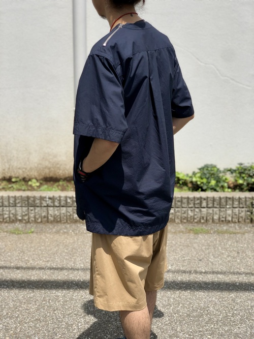 Graphpaper  - Stretch Typewriter Wide Tuck Chefk Shorts_c0079892_2105156.jpg