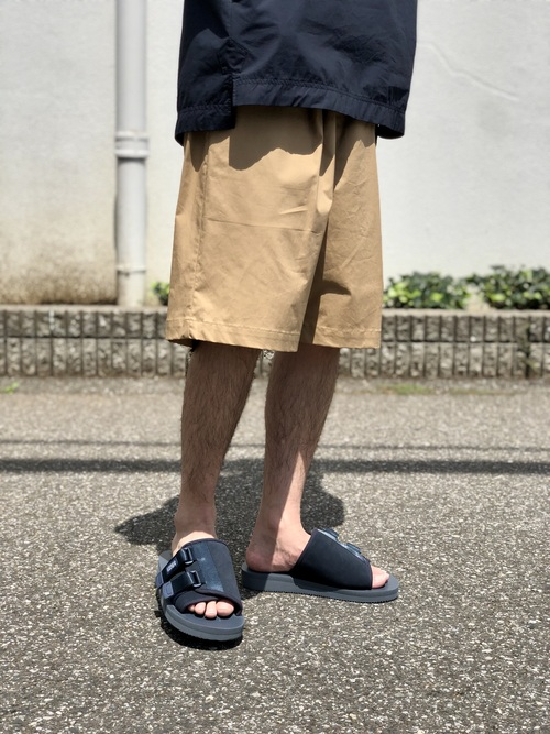 Graphpaper  - Stretch Typewriter Wide Tuck Chefk Shorts_c0079892_2112422.jpg