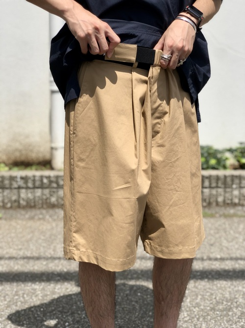 Graphpaper  - Stretch Typewriter Wide Tuck Chefk Shorts_c0079892_211484.jpg