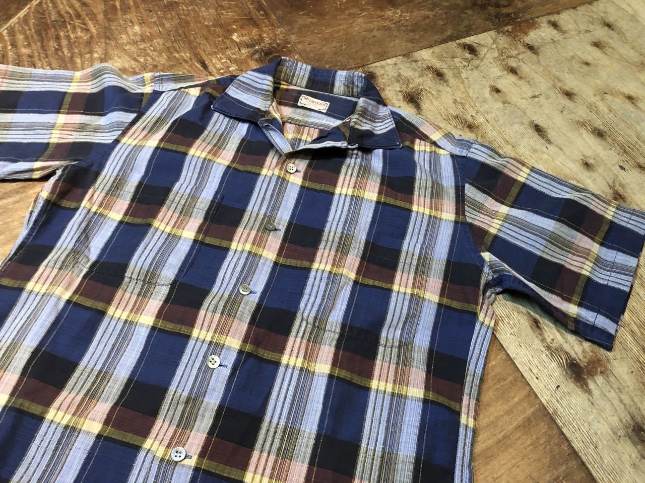 6月21日(日)入荷! 60s Mc Gregor マクレガー ボックス オープンカラーシャツ!_c0144020_12301459.jpg