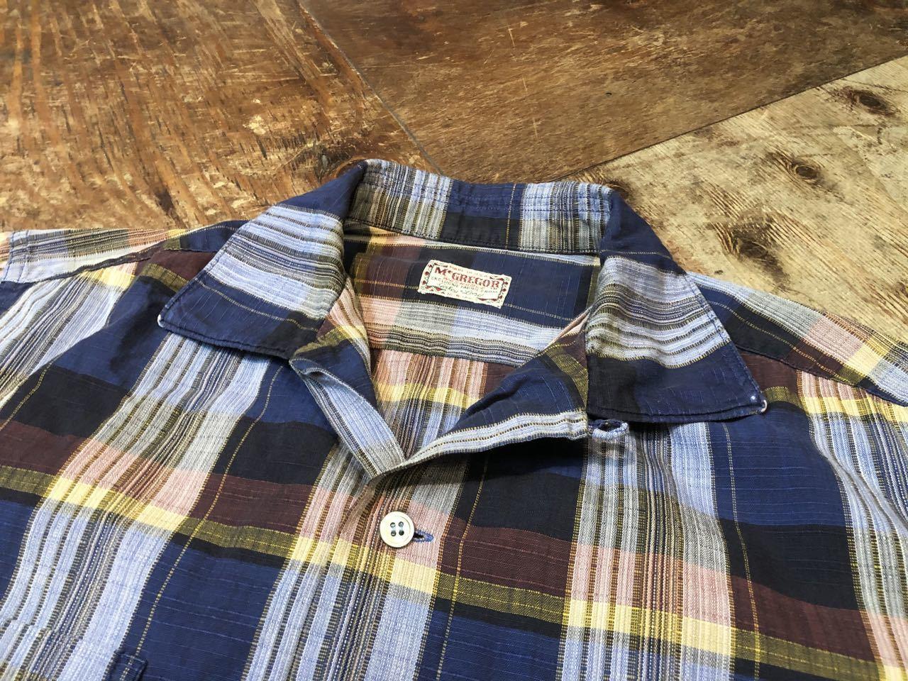 6月21日(日)入荷! 60s Mc Gregor マクレガー ボックス オープンカラーシャツ!_c0144020_12302136.jpg