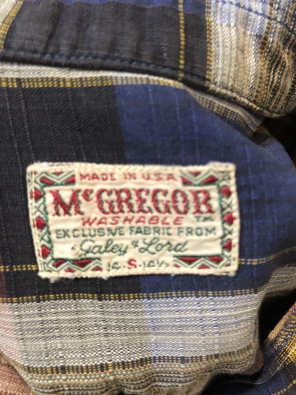 6月21日(日)入荷! 60s Mc Gregor マクレガー ボックス オープンカラーシャツ!_c0144020_12302340.jpg