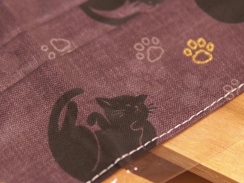 【父の日】和柄黒猫マスクと渋い扇子_b0008655_21252013.jpg