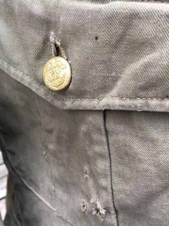 海軍兵曹長陸戦被服上衣・昭和15年改正の褐青色。_a0154482_13464200.jpg