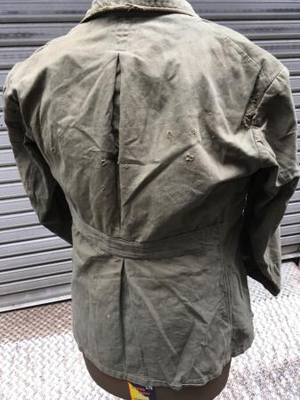 海軍兵曹長陸戦被服上衣・昭和15年改正の褐青色。_a0154482_13480843.jpg
