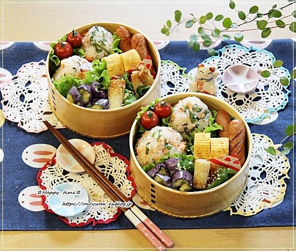 鮭とと大葉のおむすび弁当と作りおきと普通の紫陽花♪_f0348032_15335389.jpg