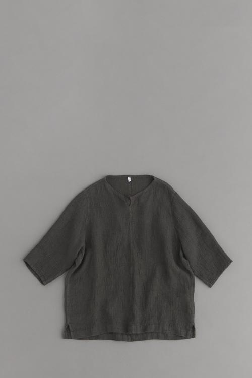 FIRMUM リネンソフトワッフルクロス ビッグシャツ (ダークグレーダイ)_d0120442_147289.jpg