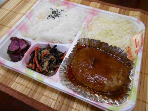 庭のホタルブクロ&肉屋さんのハンバーグ弁当_f0019498_15352746.jpg