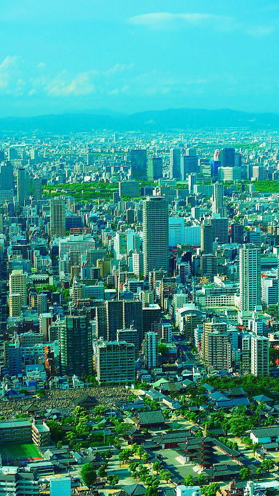 大阪市街 俯瞰_a0287533_16162574.jpg