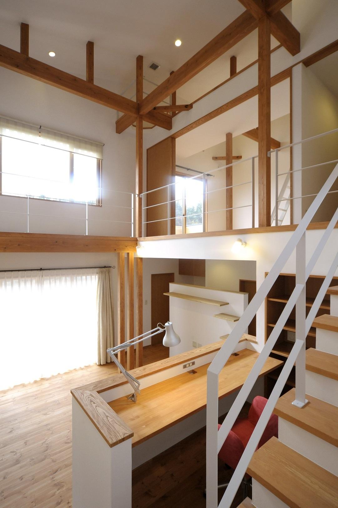 伊那市の設計事務所の家づくり 設計事例『スタディーコーナーのあるリビング』_b0146238_06184472.jpg
