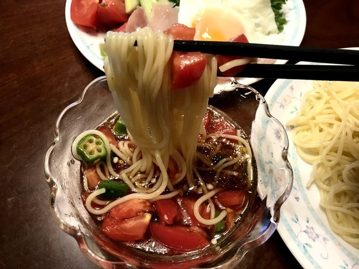 6/24水☆トマトつけ麺!_c0212604_14233749.jpg