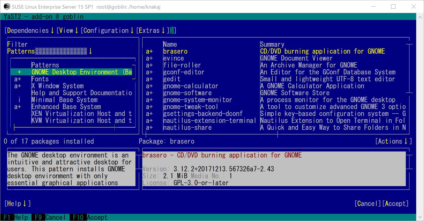 WLS2 SUSE Linux Enterprise (SLE15sp1)  GNOME 環境とコンパイラを導入_a0056607_11214719.png