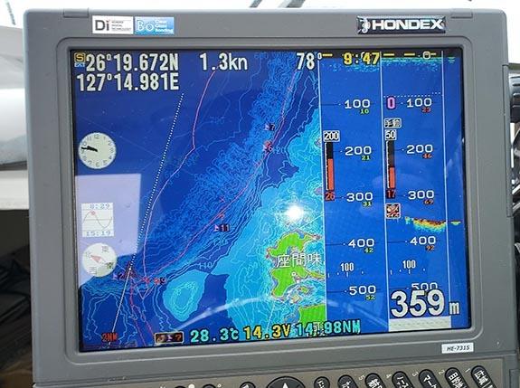 座間味島の北側でキャッチ_f0009039_17003852.jpg