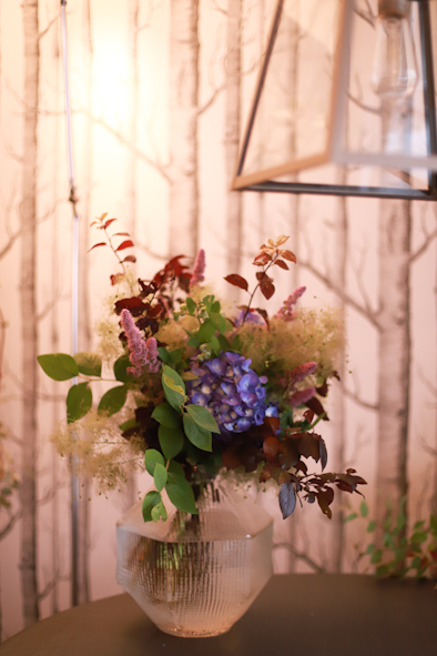 紫陽花とスモークツリーのブーケ_b0208604_06580611.jpg