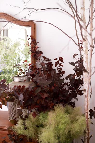紫陽花とスモークツリーのブーケ_b0208604_07033752.jpg