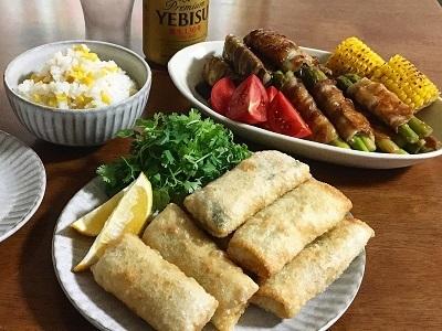 父の日のとうもろこしご飯と今朝のサンドイッチ_f0231189_18085660.jpg
