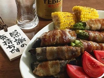 父の日のとうもろこしご飯と今朝のサンドイッチ_f0231189_18091924.jpg