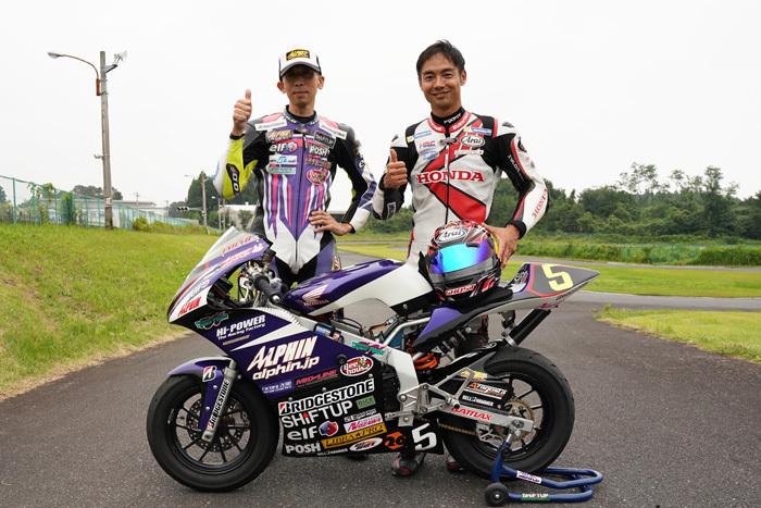 青山博一選手とトミン走行_d0067418_11370799.jpg