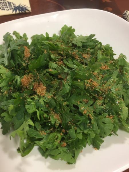 野菜呑み、春菊、茄子、豆腐_f0101128_10391659.jpg