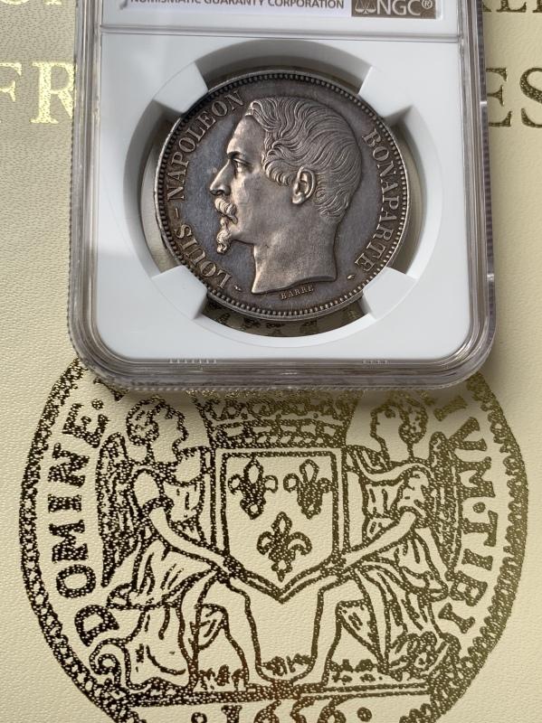 ナポレオン3世1852年5フラン銀貨PF63+! 🤩入手うう🤩_d0357629_12085691.jpeg