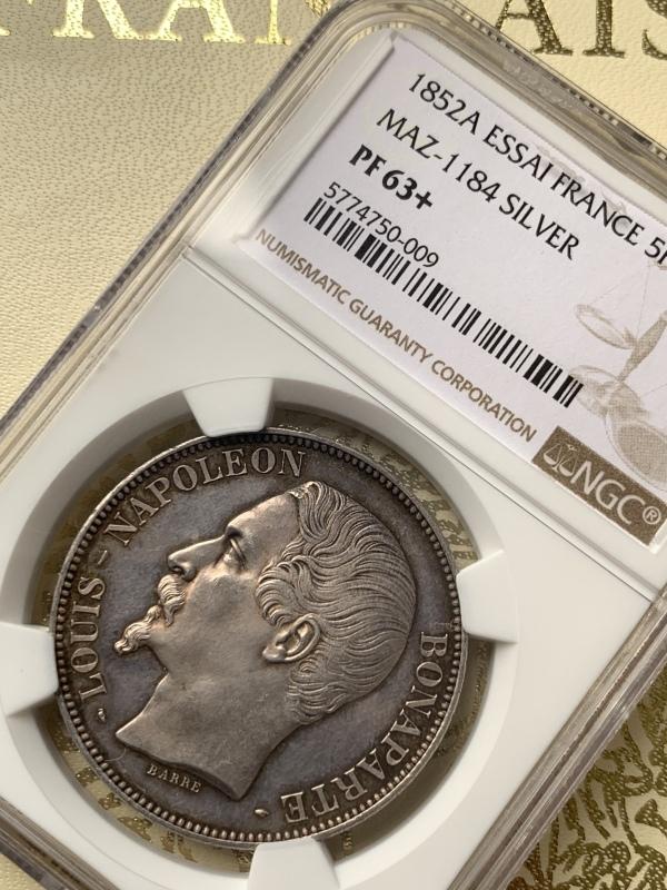 ナポレオン3世1852年5フラン銀貨PF63+! 🤩入手うう🤩_d0357629_12091502.jpeg