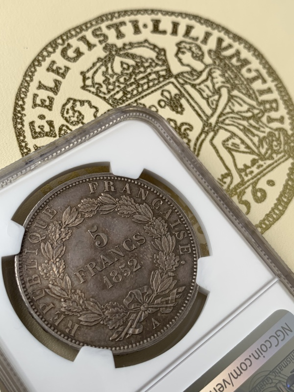 ナポレオン3世1852年5フラン銀貨PF63+! 🤩入手うう🤩_d0357629_12093520.jpeg