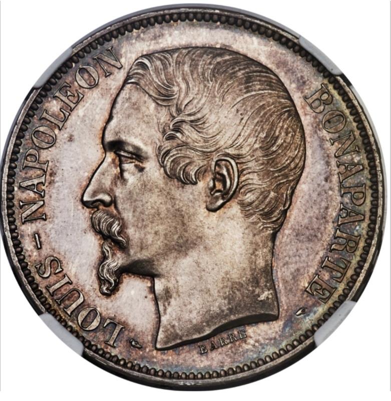 ナポレオン3世1852年5フラン銀貨PF63+! 🤩入手うう🤩_d0357629_12202873.jpeg