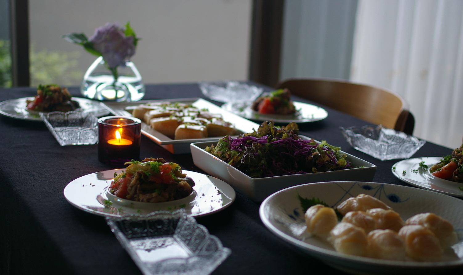 炙り帆立貝柱の握りと『夕食、簡単なものでいいよ』について_d0327373_19502394.jpg