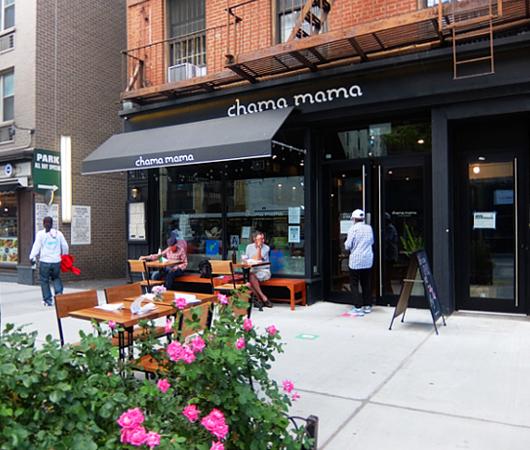 フェーズ2のNY、コロナ対策万全のレストラン(Chama Mama)でお食事へ_b0007805_01521368.jpg