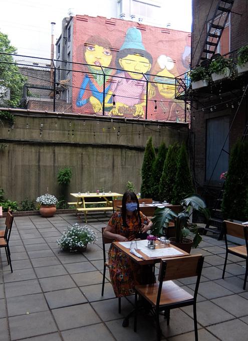 フェーズ2のNY、コロナ対策万全のレストラン(Chama Mama)でお食事へ_b0007805_03020979.jpg