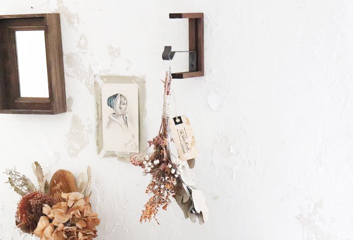 在り合わせで簡単DIY☆「アートな壁掛けフック」_d0351435_10183570.jpg